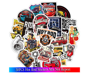 Stickers Lot 50pcs Racing Car Decals For Motorheads