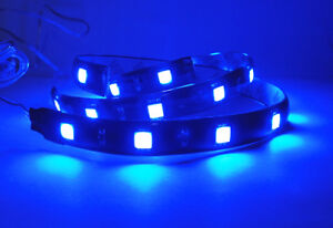 2x High Power 12 Smd Led Strip For Mercedes Benz Gauge Stereo Trunk Light Blue