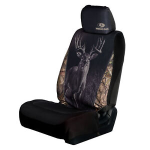 Mossy Oak Deer Seat Cover Heavy Polyester Water And Dirt Resistant Fit Most Seat