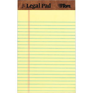 Legal Writing Sheets Pads Canary Tops The Legal Pad Jr 5 In X 8 In 12 count