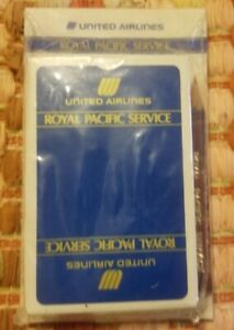 United Airlines Royal Pacific Service Playing Cards And Score Pad Brand New $6.99