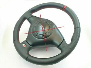 Audi A4 S4 B5 9d S8 D2 80 B4 rs2 Steering Wheel Red New Leather Srs Included