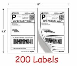 Shipping Labels Blank Self Stick Paper For Printing Usps Ups Ebay Postage