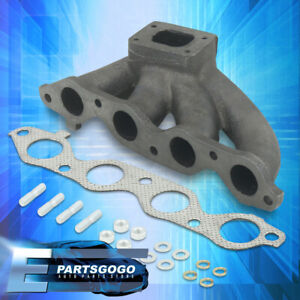 For 84 89 Toyota Corolla Mr2 1 6 4a ge Jdm Cast Turbo Manifold Header Exhaust