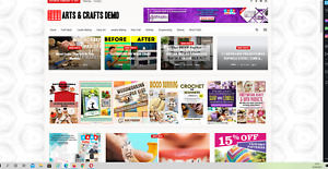 Arts Crafts Guides Website Affiliate Product Website 100 Automated