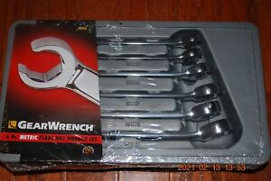 Gearwrench 6 pc Metric Flare Nut Wrench Set 81906