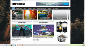 Camping outdoors Website Affiliate Product Website 100 Automated