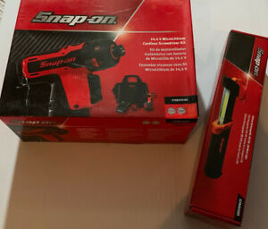 Snap On 14 4v Cordless Screwdriver Set With Led Light Ctseu761ao Orange New