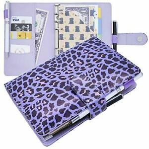 Mini Binder Leather Personal A5 A6 Planner Binder Notebook 6 Ring Small Binder