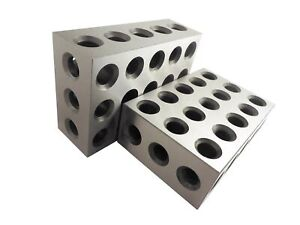 2 4 6 Blocks Matched Pair 2 Each Hardened Steel Rc 55 62 23 Holes 2x4x6