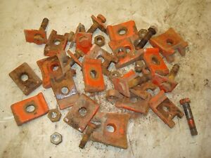 1958 Case 801b Tractor Rear Wheel Wedges Clamps 800 Lot 1