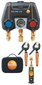 Testo 550i Smart Digital Manifold Kit With Wireless Temperature And Vacuum
