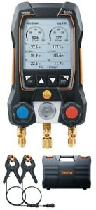 Testo 550s Digital Manifold Kit With Temperature Probes 14 To 870 Psi