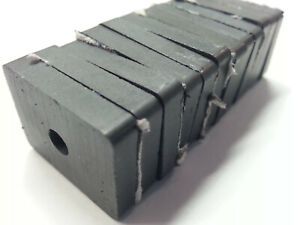 12 reclaimed Strong Ceramic Magnet Rectangle W Hole 3 4 x1 x3 16 Free Shipp