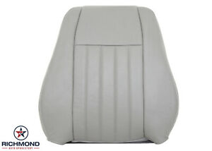 05 Jeep Liberty driver Side Lean Back Replacement Leather Seat Cover Light Gray