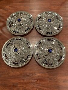 Set Of 4 Fits 15 Chrysler Dodge Mopar Wire Spoke Hubcaps Wheelcovers Chrome
