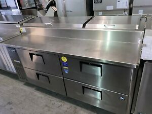 Everest 71 Refrigerated Pizza Prep Table With Drawers