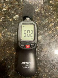 Decibel Meter Meterk Digital Sound Level Meter Range 30 130dba