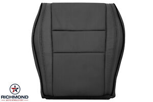 15 20 Grand Cherokee driver Side Bottom Leather Seat Cover Black W Black Piping