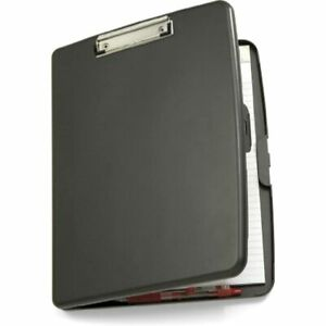 Officemate Storage Clipboard Case With Low Profile Clip Gray 83375 Folder