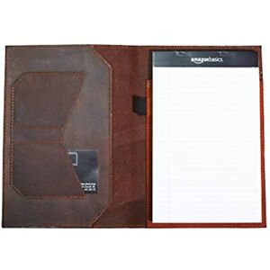 Notepad Holder Leather Legal Pad Notebook Crazy Horse Padfolio Business Gift