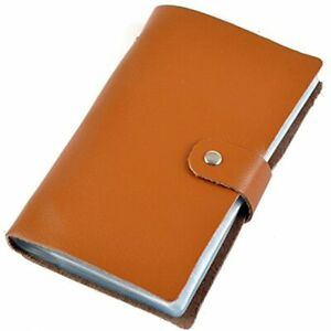 Aladin Leather Business Card Organizer Book Credit Holder With 90 Plastic Slots