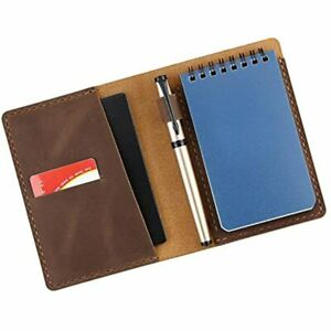 Leather Cover Compatible For Rite In Rain Top Spiral Notebook Handmade 3 quot X