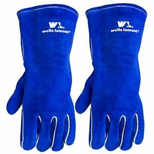 2 Pair Pack Left Hand Only Lined Leather Welding Gloves Large wells Lamont