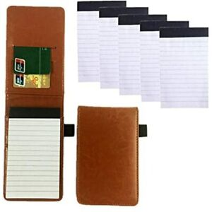 Mini Pocket Notepad Holder Included With 50 Lined Sheets Refillable Notebook