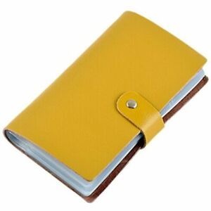 Boshiho Leather Credit Card Holder Business Case Book Style 90 Count Name Id