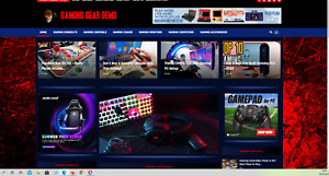 Gaming Gear Guides Affiliate Product Website automated premium Designed