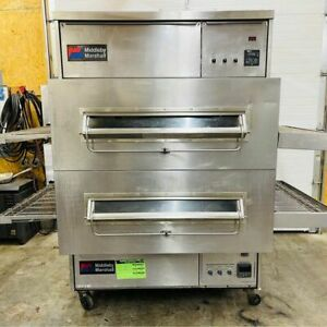 Middleby Marshall Ps360wb Gas 40 Wide Belt Dbl Stack Conveyor Ovens Works Great