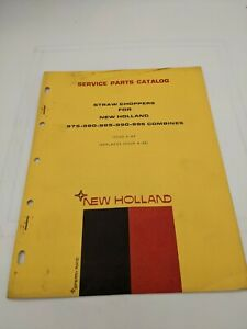 New Holland Service Parts Catalog Straw Chopper Combines 6 69