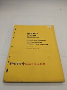 New Holland Service Parts Catalog Model 1500 Combine 3 75