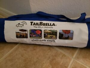 Tailbrella Hitch Umbrella Rv Camper Truck Suv Tailgate Beach Outdoor Blue