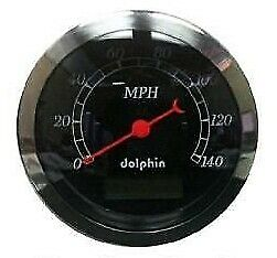 Dolphin Black 3 3 8 Gauge Electronic Speedometer Hotrod streetrod ford chevy