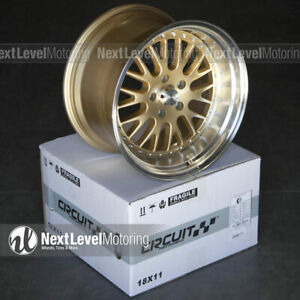 Circuit Cp21 18x9 5 18x11 5 114 3 20 Gold Wheels Staggered Fit Mustang Gt Cobra