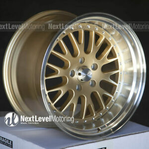 Circuit Cp21 18x9 5 18x11 5 114 3 20 Gold Wheels Staggered Fits 350z 370z G35