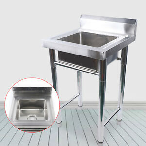 Single Kitchen Sink Stainless Steel Large Capacity Deep Wash Sink Easy To Clean
