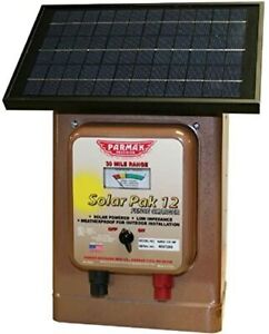 Parmak Magnum Solar pak 12 Low Impedance 12 Volt Battery Operated 30 Mile Range