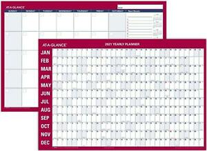 At a glance 2021 Erasable Calendar Dry Erase Wall Planner 36 X 24 Large