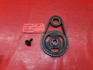 94 95 Ford Mustang 5 0 302 Sbf Crank Cam Timing Chain Gear Gears Set Oem Used