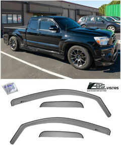 Eos Visors For 05 15 Toyota Tacoma Access Cab In channel Side Window Rain Guards