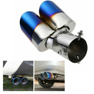 Car Suv Rear Dual Exhaust Pipe Tail Muffler Tip Throat Tailpipe Car Accessories