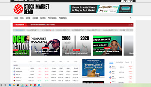 Stock Market News Website Affiliate Product Website 100 Automated