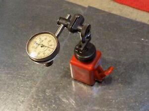 L s Starrett Kent Moore 001 Indicator ullman Devices Magnetic Base