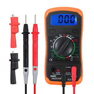 Digital Lcd Multimeter W Buzzer Ac Dc Voltage Resistance Circuit Diode Tester