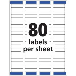 2160 Labels Avery 5667 1 2 X 1 3 4 Clear Shipping 27 Sheets 80 sheet Laser