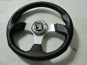 Racing Steering Wheel 13 325mm Black Red Stitching 6 Bolt Mazdaspeed Center