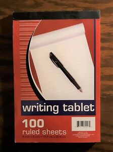 Vintage 6 X 9 Ruled Writing Tablet 91 Sheets